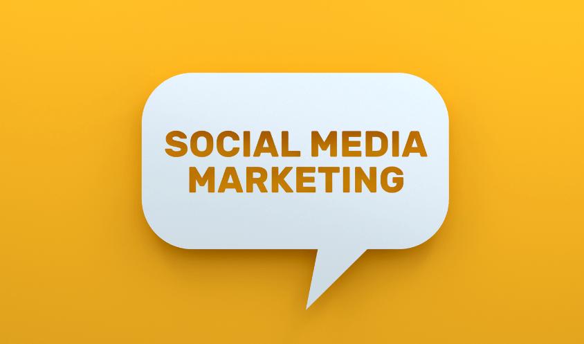 Social Media Marketing speech bubble