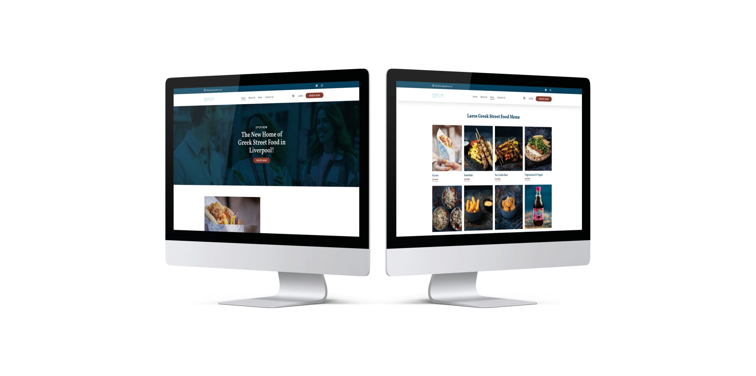 Laros Website Mockup