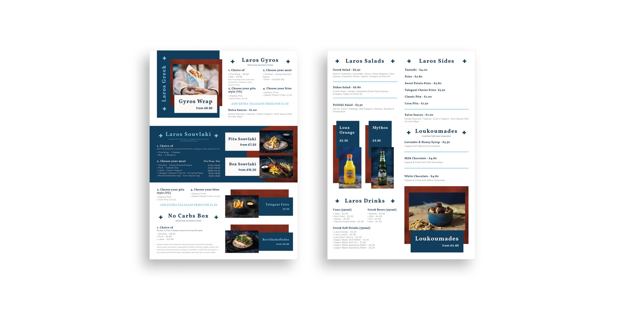 Laros Mockup menu
